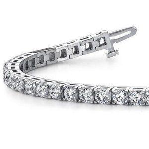 Jewelry - Brilliant Cut 8.50 Carats G2 Diamonds Tennis Brace
